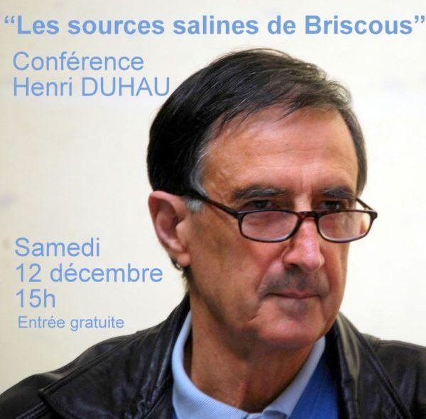 Conférence «Les sources salines de Briscous»