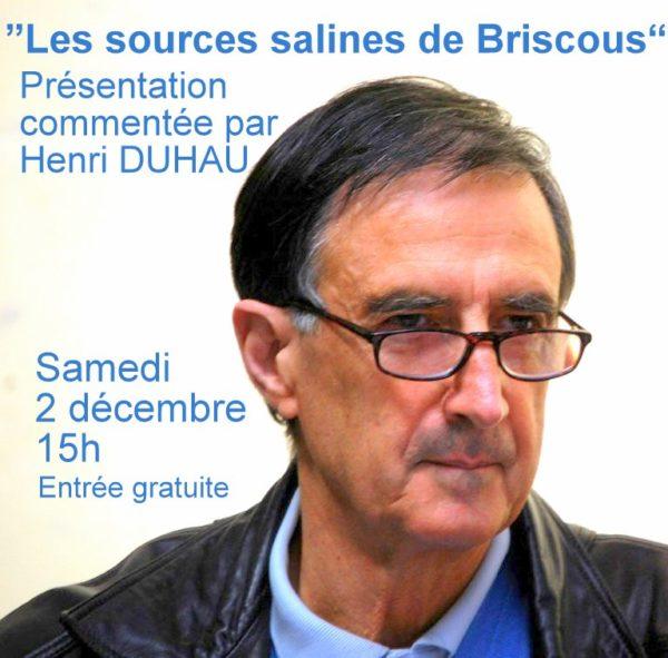 Présentation commentée: «Les sources salines de Briscous»