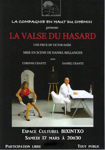 Théâtre: «La valse du hasard»