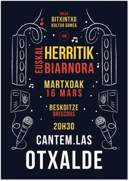 Concert OTXALDE et CANTEM IAS