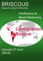 Conférence 'L'émigration Basque»