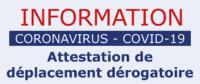 Nouvelles attestations de déplacement dérogatoire (papier et numérique)